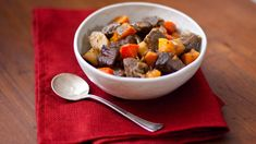 Roasting the vegetables in this stew before adding them in brings out delicious caramelized flavors. Slow Cooker Recipes, Beef Recipes, Cooking Recipes, Healthy Recipes, Skinny Recipes, Seafood Recipes, Chicken Recipes, Roasted Winter Vegetables, Slow Cooker