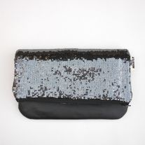 Fold-Over Clutch In Sequins & Leather //LIMITED EDITION//