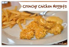 This is a great version where the chicken nuggets are baked instead of fried, where the coating is crunchy and the nuggets have a good flavor that even adults will enjoy…. but doesn't stray too far from the chicken nuggets that your kids are used to!