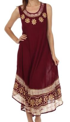 Sakkas A900 Batik Flower Caftan Tank Dress / Cover Up - Chocolate - One Size Sakkas http://www.amazon.com/dp/B00EAZA010/ref=cm_sw_r_pi_dp_Y.KOtb0RKAPC248X