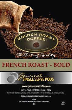 French Roast Coffee Pods (Bold) - 18 Count Box - http://thecoffeepod.biz/french-roast-coffee-pods-bold-18-count-box/