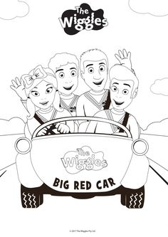 The Wiggles Activity: Color the Wiggles!