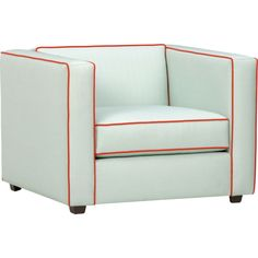 Club Piping Chair, great piece to have in a room that may need a lil bit of color and not over doing it. @ CB2
