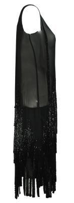 Gabrielle Chanel 1920s beaded flapper dress sold