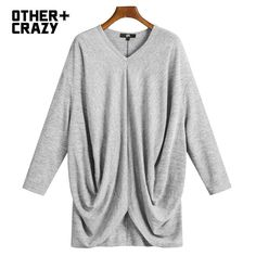 OTHERCRAZY 2016 spring new loose knit casual T shirt woman
