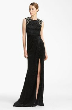 ShopStyle: Jason WuEmbroidered Gown