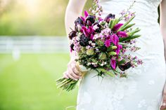 Purple organic bouquet from Sassafras Floral