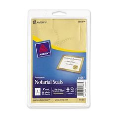 Avery(R) Metallic Gold Print or Write Notarial Seals for Inkjet Printers 2 inch Diameter, Pack of 44 Picture Frame Projects, Office Supplies List, Label Templates, Gold Print, Inkjet Printer, Nautical Theme, Adhesive, Self