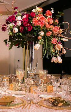 Wedding reception centerpiece idea; Featured Planner: Thomas Bui Lifestyle