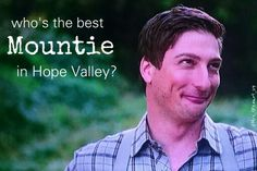 Our favorite Mountie Jack Thornton (Daniel Lissing) When Calls the Heart