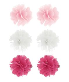 Another great find on #zulily! Pink & White Hair Clip Set by Capelli New York #zulilyfinds
