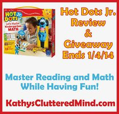 Educational Insights Hot Dots Jr Kindergarten Review and #Giveaway Ends 1/4/14 #math #reading