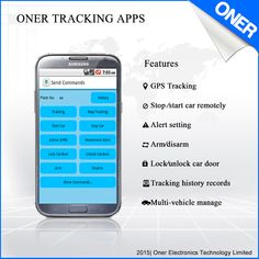 support the feature like:  GPS tracking Stop/start car remotely Alert setting Arm/disarm Lock/unlock car door  Tracking hostory record Multi-vehicle manage