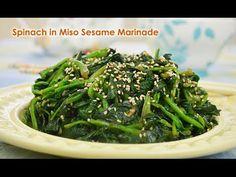 spinach, sesame seed, miso, sesame oil, garlic, white miso