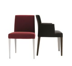 Melandra chairs with and without armrests