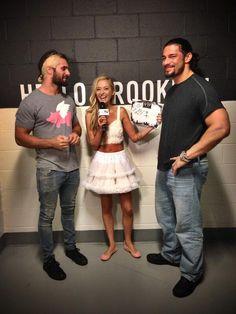 Roman reigns and seth rollins interviewing The Shield Wwe, Roman Reings, Wrestling Wwe, Twin Boys, Dean Ambrose, Seth Rollins, John Cena, Wwe Superstars, Roman Empire