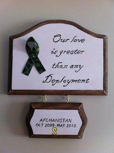 Deployment sign. $15.00, via Etsy.  Need this too :)