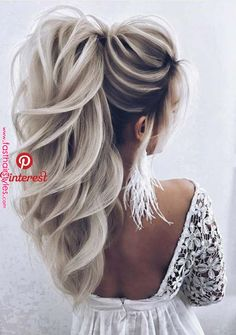 33 Creative Ideas of Wedding Hairstyles for Women in 2018 Are you still searching for best styles of hairstyles for your big day? You … 33 Creative Ideas of Wedding Hairstyles for Women in 2018 Are you still searching for best styles of hairstyles for yo Wedding Hairstyles For Women, Fast Hairstyles, Formal Hairstyles, Ponytail Hairstyles, Creative Hairstyles, Dress Hairstyles, Curly Hair Styles, Bridesmaid Hair, Ombre Hair