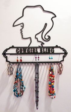 Cowgirl Bling Jewelry Holder and Display