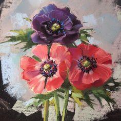 Пока дома есть цветы, непременно надо их рисовать!!! #pastelpainting #пастель…