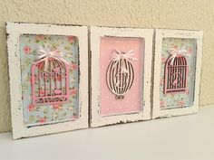 Decoupage Vintage, Molduras Shabby Chic, Shabby Chic Picture Frames, Wooden Cutouts, Shabby Chic Crafts, Dyi Crafts, Pop Up Cards, Kids Online, Diy Projects To Try