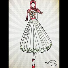 Couturebynes  #hayaller #gerçek #oluyor #couturebynes #tesettür #nes #sarı #çizim #moda #tasarım #design #silüet #boya #renk #karakalem #stilist #çalışma #keyfisiii #muxi