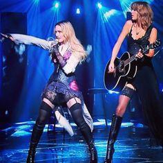 Madonna and Taylor Swift at iHeart Radio Awards