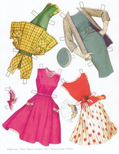 §§§ : Claire, A Fashion Doll, from De Journette ✄ 1950s