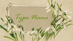 Snowdrops Place Card Template on Etsy, $4.00 CAD