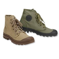 French Foreign Legion canvas ankle boots. Unfortunately, at Orvis they start at men's size 8, and I have small feet.