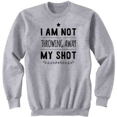 I Am Not Throwing Away My Shot Hamilton Gifts Revolutionaries Unisex... ($25) ❤ liked on Polyvore featuring tops, hoodies, sweatshirts, black, women's clothing, checkered shirt, roll up shirt, vinyl shirt, checked shirt and cuff shirts