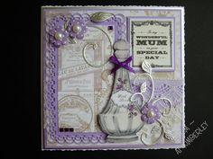 Made using Craftwork Cards Vintage Ephemera papers and die cuts Vintage Ephemera, Vintage Cards, Craftwork Cards, Periwinkle, Lilac, Lavender, Vintage Perfume Bottles, Country Charm, Craft Work