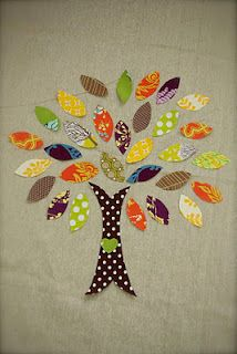 fabric tree wall hanging