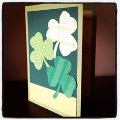 Homemade St. Patrick's Day card by the Paper Puncher, aka Lauryn Nicole.