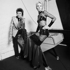 Terry O'Neill | Angie and David Bowie foosball table (ca. 1974) | Available for Sale | Artsy