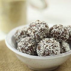 These guilt-free bites are great for a mid-day sweet treat!