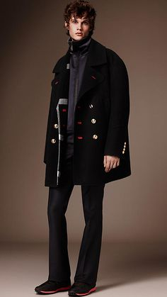 Black The Pea Coat - Image 1