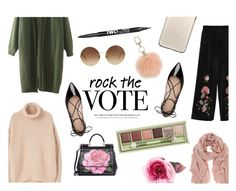 """Rock the Vote"" by sleepleisure ❤ liked on Polyvore featuring MANGO, Kate Spade, Mint Velvet, Dolce&Gabbana, Tory Burch, Victoria Beckham, Gucci, Pixi and Charlotte Russe"