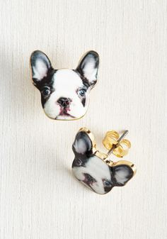 Best-Dressed in Show Earrings in Dog. Show em your outfits are top-notch by sporting these adorable dog earrings!  #modcloth
