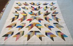 quilt a fleece throw to a quilt top | Arrows Quilt Top Wall Hanging Lap Quilt Throw 43 ... | Quilt Inspirat ...