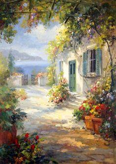Pintura de Sergey Minaev - Série Jardins