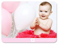 First birthday photos! first year photos with balloons and tutus!