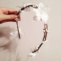 cosecha especial / de la boda corona de flores con motivo casco – MXN $ 159.14