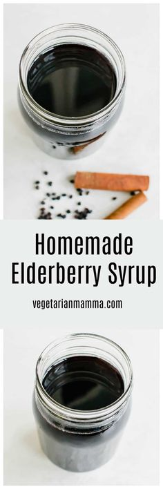 Homemade Elderberry Syrup is a cost effective way to enjoy the benefits of Elderberry Syrup at home. Whether you are using it for overall wellness or as a tool to fit against colds, this recipe is delicious! I elderberry syrup I elderberry syrup recipes I elderberry I homemade elderberry syrup I homemade medicine recipes II Vegetarian Mamma #elderberry #medicine #recipes