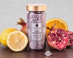Citrus Pomegranate Aroma Beads - Enjoy the fresh scent of this delightful mixture of zingy citrus and luscious pomegranate. Soy Candles, Candle Jars, Scented Candles, Aroma Beads, Jewelry Candles, Wax Tarts, Luxury Candles, Food Places, Potpourri