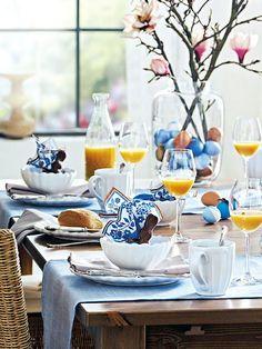 love bright blue color eggs in vase