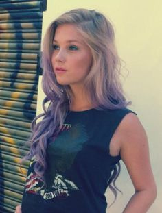 26 Inches Wavy Blonde to Purple Human Hair Ombre Wigs