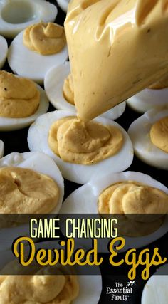 Game Changing Deviled Eggs Recipe A delicious deviled egg recipe flavored with Dill Vitality Essential oil for a tasty twist. Delicious Deviled Egg Recipe, Healthy Deviled Eggs, Perfect Deviled Eggs, Fried Deviled Eggs, Sriracha Deviled Eggs, Devilled Eggs Recipe Best, Avocado Deviled Eggs, Bacon Deviled Eggs, Deviled Eggs Recipe