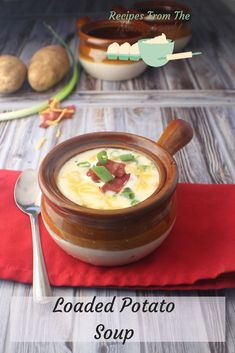 When it's cold outside, warm up inside with this creamy, cheesy, loaded baked potato soup! Perfect for using up leftover baked potatoes, too! #diy #jerf #eatclean#foodie #foodlovers #frenchmanapproved#healthylifestyle #spices #foodporn#fooddiary #foodblogger #instantpot#pressurecooking #instantfood#realfoodrealquick #diy #jerf #eatclean #foodie #foodlovers #frenchmanapproved  #healthylifestyle #spices #foodporn #fooddiary #foodblogger #sourdough #healthyliving