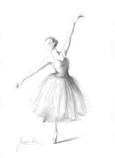 Open Edition 8 x 12 print on WHITE PAPER of original pencil drawing by Ewa Gawlik.